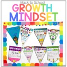 Back to School Goal Banners for the Growth Mindset K-8