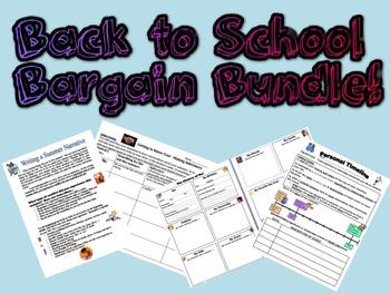 Back to School Bargain Bundle - First Week Activities!