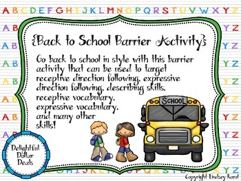 Back to School Barrier Activity