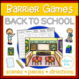Back to School Barrier Games Speech Therapy
