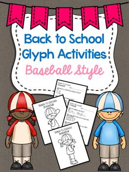 Back to School Baseball Themed Glyphs