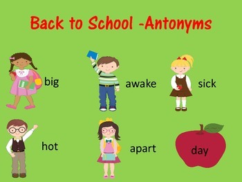 Back to School Baseline Check-Synonyms & Antonyms