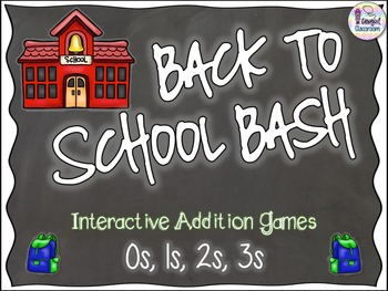 Back to School Bash - 0s, 1s, 2s, 3s (Addition)