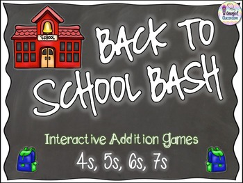 Back to School Bash - 4s, 5s, 6s, 7s (Addition)