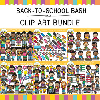 Back to School Bash Clip Art GROWING BUNDLE {Back to School Clip Art}