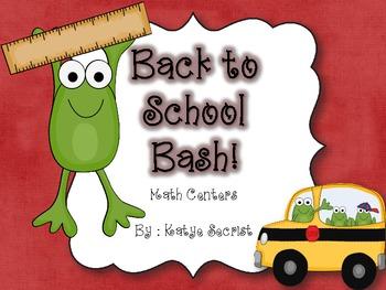 Back to School Bash Math Centers {Common Core Aligned}