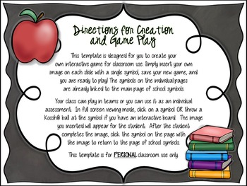 Back to School Bash Template  - Create Your Own Game