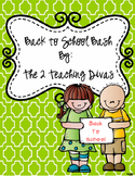 Back to School Bash by The 2 Teaching Divas