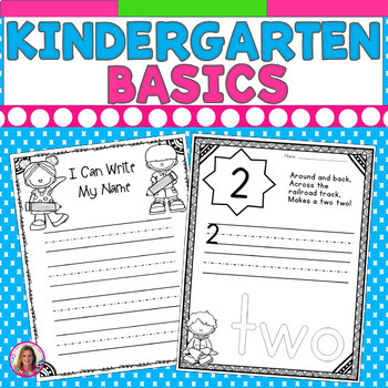 Beginning of the Year Basics! Printables for the First Few Weeks of Kindergarten