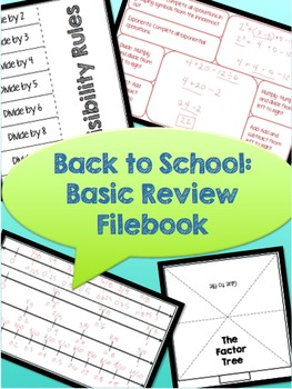 Back to School: Basic Review Filebook