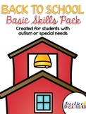 Back to School Basic Skills Activity Pack {for students with autism}