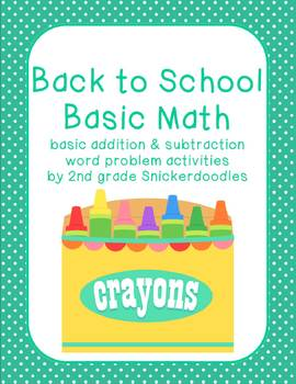 Back to School Basics: Addition and Subtraction Word Problems