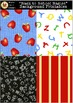 """""""Back to School Basics"""" Backgrounds [Marie Cole Clipart]"""