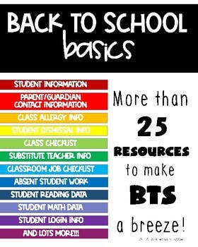 *New Resource 50% Off* Back to School Basics Bundle