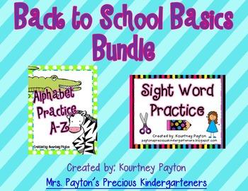 Back to School Basics Bundle (Alphabet & Sight Word Practice)
