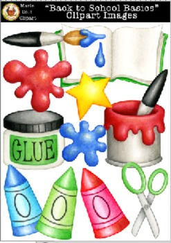 """Back to School Basics"" Clipart Images [Marie Cole Clipart]"