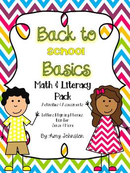 Back to School Basics Math & Literacy Pack