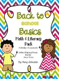 Back to School Basics Math & Literacy Pack