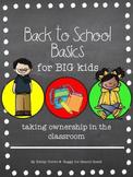 Back to School Basics for BIG Kids