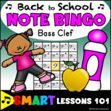 Back to School Bass Clef Bingo Game: Back to School Note Name Bingo Music Game