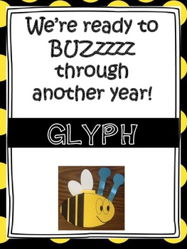 Back to School Bee Glyph We're Ready to Buzz through another year!