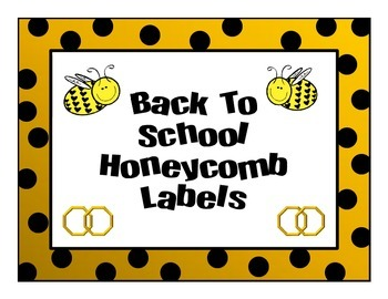 Back to School Bee Labels.