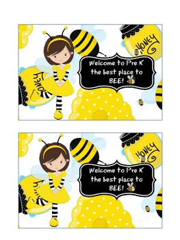 Back to School Bee Postcards