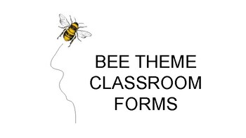 Back-to-School Bee Theme Forms