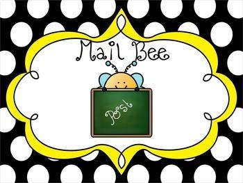 Back to School Bee Themed Classroom Jobs Display
