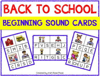 Back to School Beginning Sound Cards