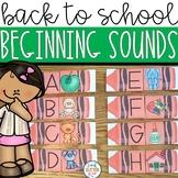 Back to School Beginning Sound Center Activity
