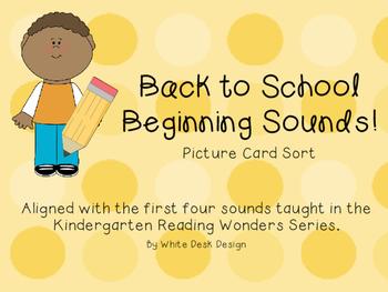 Back to School! Beginning Sound Sort