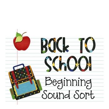 Back to School: Beginning Sound Sort