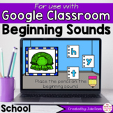Back to School Beginning Sounds Activity for Google Classroom