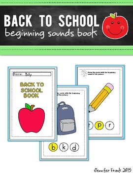 Back to School Beginning Sounds Book