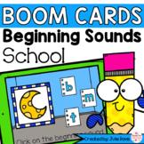 Back to School Beginning Sounds   Digital Game Boom Cards