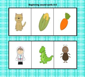 Back to School Beginning Sounds Game