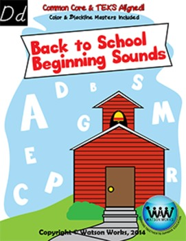 Back to School Beginning Sounds - Letter D