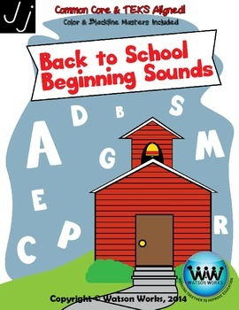 Back to School Beginning Sounds - Letter J