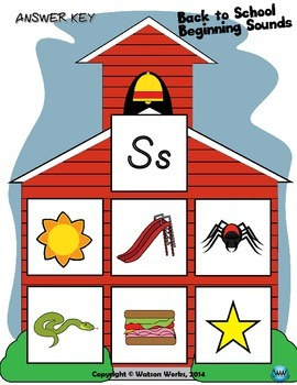 Back to School Beginning Sounds - Letter S