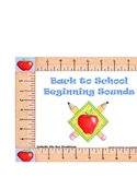 Back to School Beginning Sounds