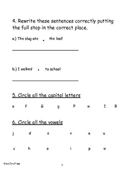 Back to School Beginning of Year Assessment - Year Two (UK)
