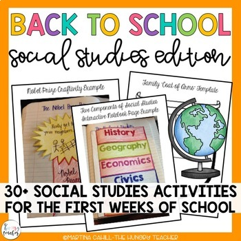 Back to School Beginning of the Year Activities: Community and Social Studies!