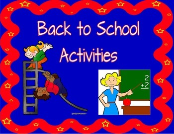 Back to School Beginning of the Year Activities, 8 activities! First day or week