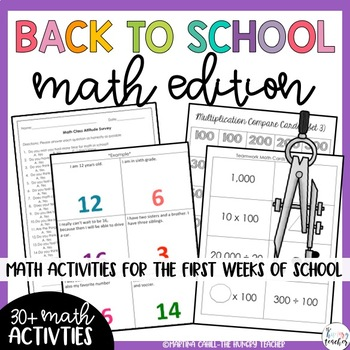 Back to School Beginning of the Year Activities: Math Edition!