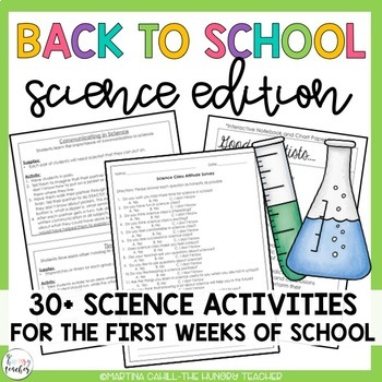 Back to School Beginning of the Year Activities: Math and Science Bundle!