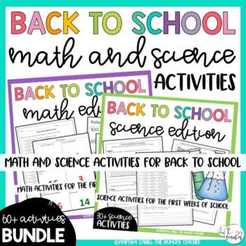 Back to School Beginning of the Year Activities: Math and
