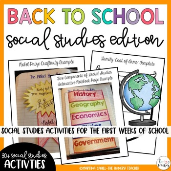 Back to School Beginning of the Year Activities: Social Studies Edition!