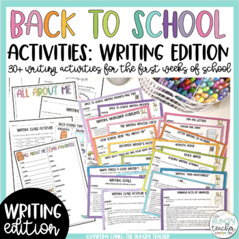 Back to School Beginning of the Year Activities: Writing Edition!