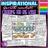 Growth Mindset Coloring Pages Sheets: Inspirational quotes